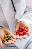 Doctor, pills Royalty Free Stock Photography