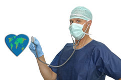 Doctor and planet Royalty Free Stock Photography