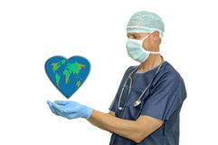 Doctor and planet Stock Photography