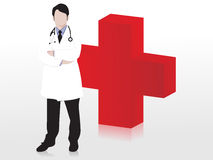 Doctor and plus, icons vector Royalty Free Stock Images