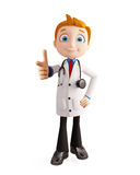 Doctor with pointing pose Stock Photography