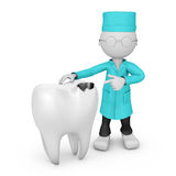 Doctor points to tooth Royalty Free Stock Images