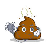 Doctor Poop emoticon character cartoon Royalty Free Stock Image