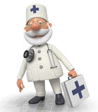 The doctor with a portfolio goes to the patient Stock Images