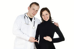 Doctor and pregnant woman Stock Photo