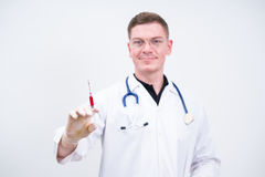 Doctor prepare to make injection Stock Image