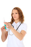 Doctor prepares injection Royalty Free Stock Photo