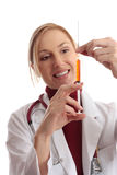 Doctor preparing needle Royalty Free Stock Image