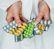 Doctor prescribes a drug Royalty Free Stock Photography