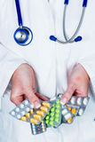 Doctor prescribes a medication Royalty Free Stock Photo