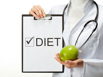 Doctor prescribing diet Stock Photo