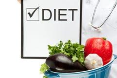 Doctor prescribing diet Stock Image