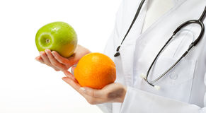Doctor prescribing healthy eating Royalty Free Stock Photography