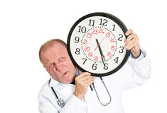 Doctor pressured by time Stock Images