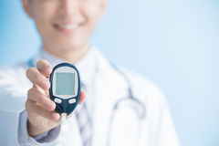 Doctor prevention of diabetes Stock Photography