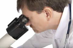 Doctor and Professional Microscope Stock Photos