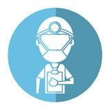 Doctor professional surgery mask hat clipboard shadow Stock Photography