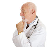 Doctor in Profile Stock Photo