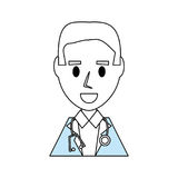 Doctor profile cartoon Stock Images