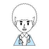 Doctor profile cartoon Stock Image
