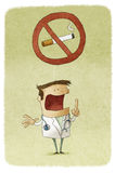 Doctor Prohibiting Smoking Royalty Free Stock Images