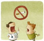 Doctor prohibiting smoking Royalty Free Stock Image