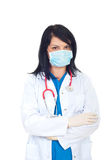 Doctor with protective mask Royalty Free Stock Images