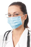 Doctor in protective mask Royalty Free Stock Images