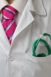 Doctor que comienza su día laborable Imagen de archivo