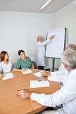 Doctor que da conferencia en la reunión del equipo Foto de archivo