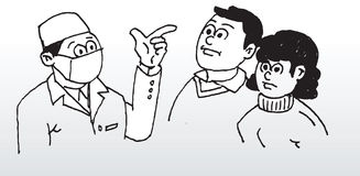 Doctor que da consejo libre illustration