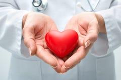 Doctor que lleva a cabo el corazón Foto de archivo libre de regalías