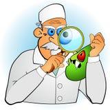 Doctor que revisa el germen Imágenes de archivo libres de regalías