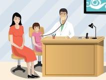 Doctor que trata al niño Imágenes de archivo libres de regalías