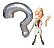 Doctor with a question Stock Photography