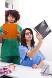 Doctor with radiography Royalty Free Stock Photography