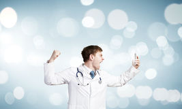 Doctor in rage Royalty Free Stock Images