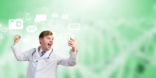 Doctor in rage Stock Photos