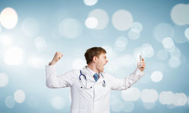 Doctor in rage Royalty Free Stock Photography