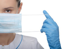 Doctor raised his finger up Royalty Free Stock Images
