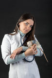 Doctor and rat Stock Images