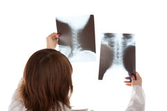 Doctor and X-RAY Royalty Free Stock Photography