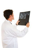 Doctor Reads MRI Stock Photography