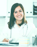 Doctor ready for clients Royalty Free Stock Photos