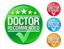 Doctor Recommend Icons. Choose from 4 different colored doctor recommended icons Royalty Free Stock Images