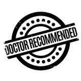Doctor Recommended rubber stamp Stock Images