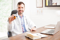 Doctor recommending some medicine Stock Photography