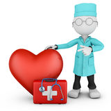 Doctor and red heart Royalty Free Stock Photography