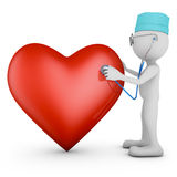 Doctor and red heart Stock Images