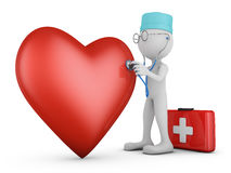Doctor and red heart Royalty Free Stock Photos